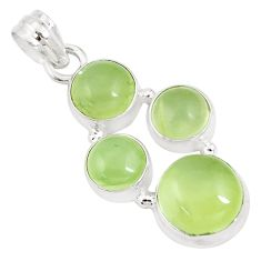 16.37cts natural green prehnite 925 sterling silver pendant jewelry p9352