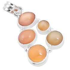 925 sterling silver 13.71cts natural pink moonstone pendant jewelry p9367
