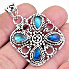 8.03cts natural blue labradorite 925 sterling silver pendant jewelry p93770
