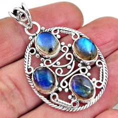 11.83cts natural blue labradorite 925 sterling silver pendant jewelry p93776