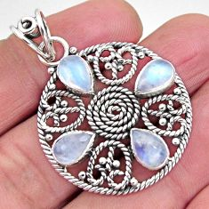 925 sterling silver 7.73cts natural rainbow moonstone pendant jewelry p93834