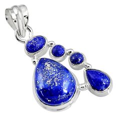 15.76cts natural blue lapis lazuli 925 sterling silver pendant jewelry p94088