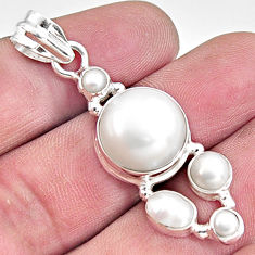 16.52cts natural white pearl 925 sterling silver pendant jewelry p94122