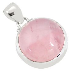 19.72cts natural pink rose quartz 925 sterling silver pendant jewelry p94315