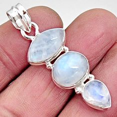925 sterling silver 15.15cts natural rainbow moonstone pendant jewelry p94436
