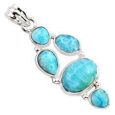 14.44cts natural blue larimar 925 sterling silver pendant jewelry p96141