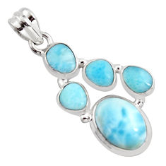 12.64cts natural blue larimar 925 sterling silver pendant jewelry p96142