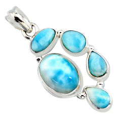 13.34cts natural blue larimar 925 sterling silver pendant jewelry p96145