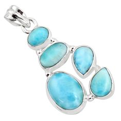 13.82cts natural blue larimar 925 sterling silver pendant jewelry p96149
