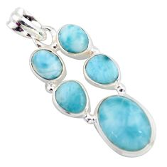 13.46cts natural blue larimar 925 sterling silver pendant jewelry p96152