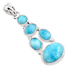 13.46cts natural blue larimar 925 sterling silver pendant jewelry p96153