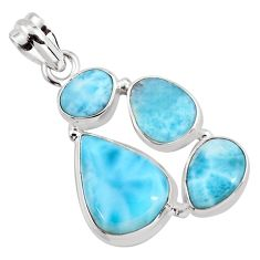 16.17cts natural blue larimar 925 sterling silver pendant jewelry p96166