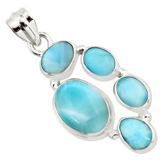 13.46cts natural blue larimar 925 sterling silver pendant jewelry p96173