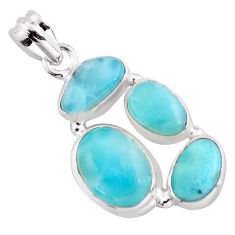 13.46cts natural blue larimar 925 sterling silver pendant jewelry p96176