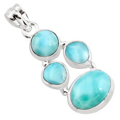 12.72cts natural blue larimar 925 sterling silver pendant jewelry p96181
