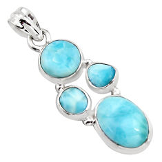 925 sterling silver 11.93cts natural blue larimar pendant jewelry p96195
