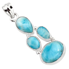 12.34cts natural blue larimar 925 sterling silver pendant jewelry p96198