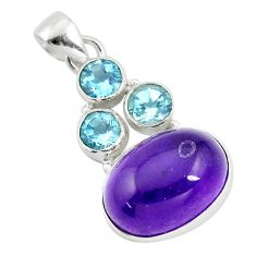 925 sterling silver 15.97cts natural purple amethyst topaz pendant jewelry p9704