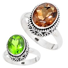 5.07cts green alexandrite (lab) 925 silver solitaire ring size 7.5 p12846