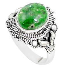 925 silver 5.12cts natural green chrome diopside solitaire ring size 10 p15164
