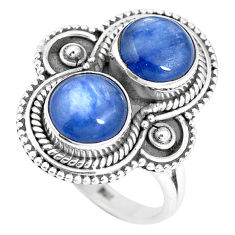 Natural blue kyanite 925 sterling silver solitaire ring jewelry size 7 p15772