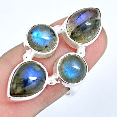 8.42cts natural blue labradorite 925 sterling silver ring jewelry size 7 p15925