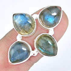 8.71cts natural blue labradorite 925 sterling silver ring jewelry size 7 p15935
