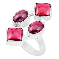 925 sterling silver 11.68cts natural red garnet ring jewelry size 8 p16007