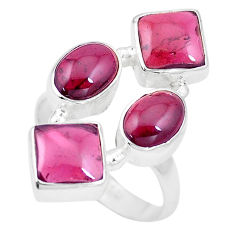 11.37cts natural red garnet 925 sterling silver ring jewelry size 7 p16008