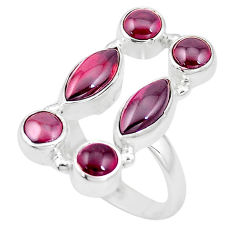9.13cts natural red garnet 925 sterling silver ring jewelry size 6.5 p16015