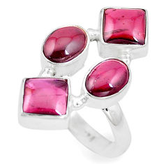 11.93cts natural red garnet 925 sterling silver ring jewelry size 7 p16016