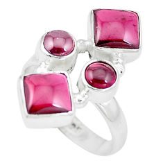 7.78cts natural red garnet 925 sterling silver ring jewelry size 8 p16018