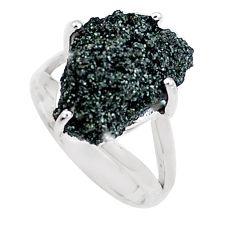 925 silver natural green seraphinite in quartz solitaire ring size 7 p16676
