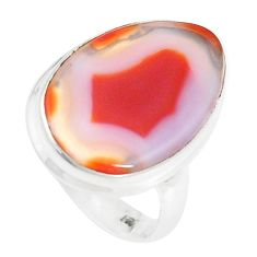 12.10cts natural honey botswana agate 925 sterling silver ring size 6.5 p17145
