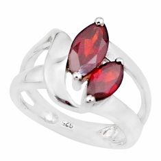 925 sterling silver 4.16cts natural red garnet solitaire ring size 5.5 p18451