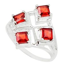 2.94cts natural red garnet 925 sterling silver ring jewelry size 9 p18541