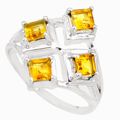 925 sterling silver 3.01cts natural yellow citrine ring jewelry size 8 p18545