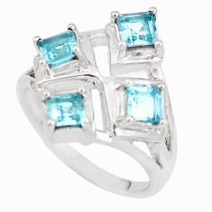 3.24cts natural blue topaz 925 sterling silver ring jewelry size 7 p18553