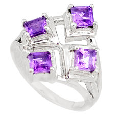 925 sterling silver 3.13cts natural purple amethyst ring jewelry size 9 p18560