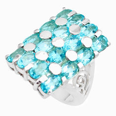 15.63cts natural blue topaz 925 sterling silver ring jewelry size 6.5 p18686