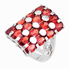 925 sterling silver 16.21cts natural red garnet ring jewelry size 6.5 p18693