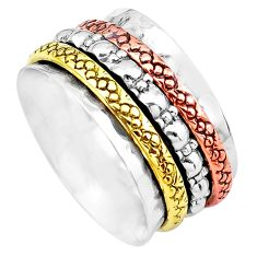 Victorian 925 sterling silver two tone band ring jewelry size 8 p20280