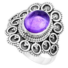 925 silver 4.73cts natural purple amethyst solitaire ring jewelry size 10 p20364