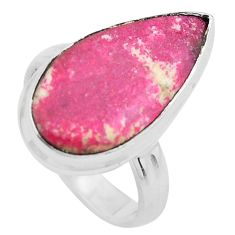 925 silver 10.31cts natural pink thulite solitaire ring jewelry size 6 p20513
