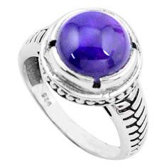 5.31cts natural purple amethyst 925 silver solitaire ring jewelry size 8 p25028