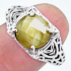 4.93cts natural blue labradorite 925 silver solitaire ring jewelry size 8 p25136