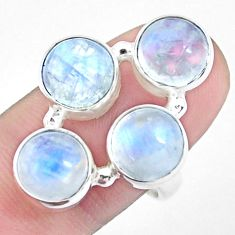 14.19cts natural rainbow moonstone 925 sterling silver ring size 8.5 p25806