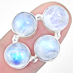 925 sterling silver 13.84cts natural rainbow moonstone ring size 6.5 p25813