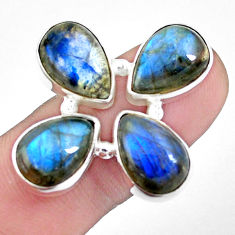 15.64cts natural blue labradorite 925 sterling silver ring size 7.5 p25833