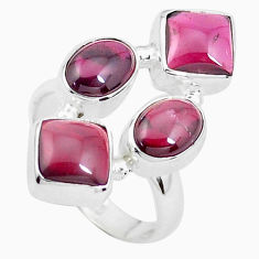 12.64cts natural red garnet 925 sterling silver ring jewelry size 7 p26087